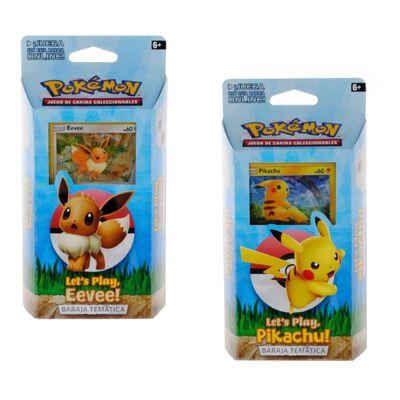 Juegos De Cartas Pokemon Mazo 60 Cartas Lets Play