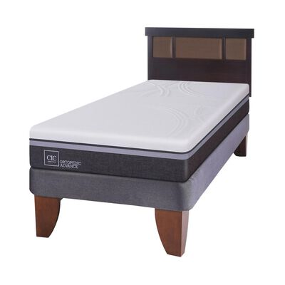 Cama Europea Cic Ortopedic / 1.5 Plazas / Base Normal + Respaldo