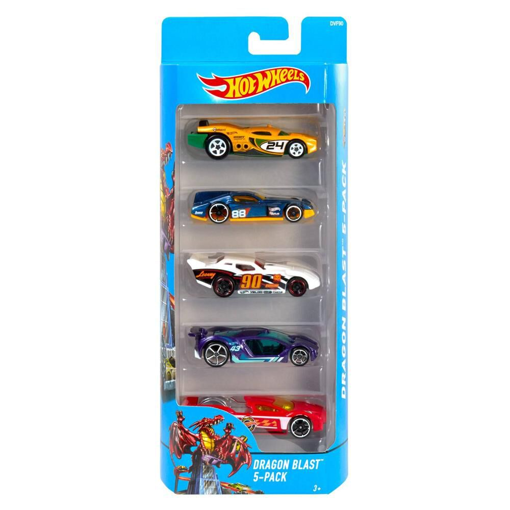 Auto De Juguete Hotwheels 5-Pack image number 0.0