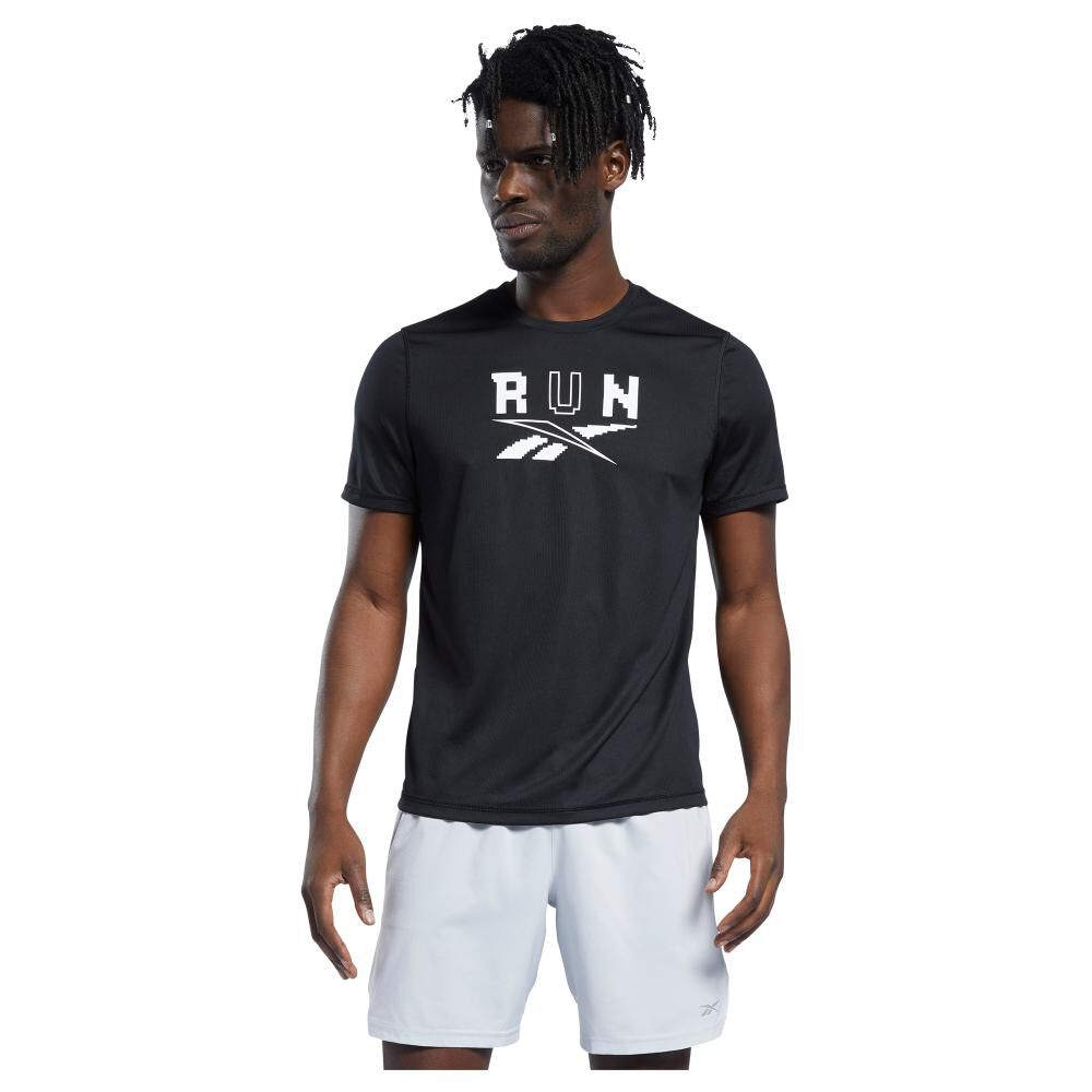Polera Hombre Reebok Run Essentials Short Sleeve Graphic Tee image number 0.0