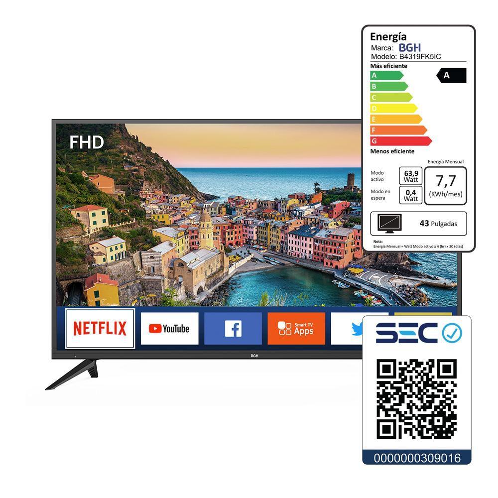 """Led BGH B4319fk5ic / 43"""" / Full HD / Smart Tv image number 7.0"""