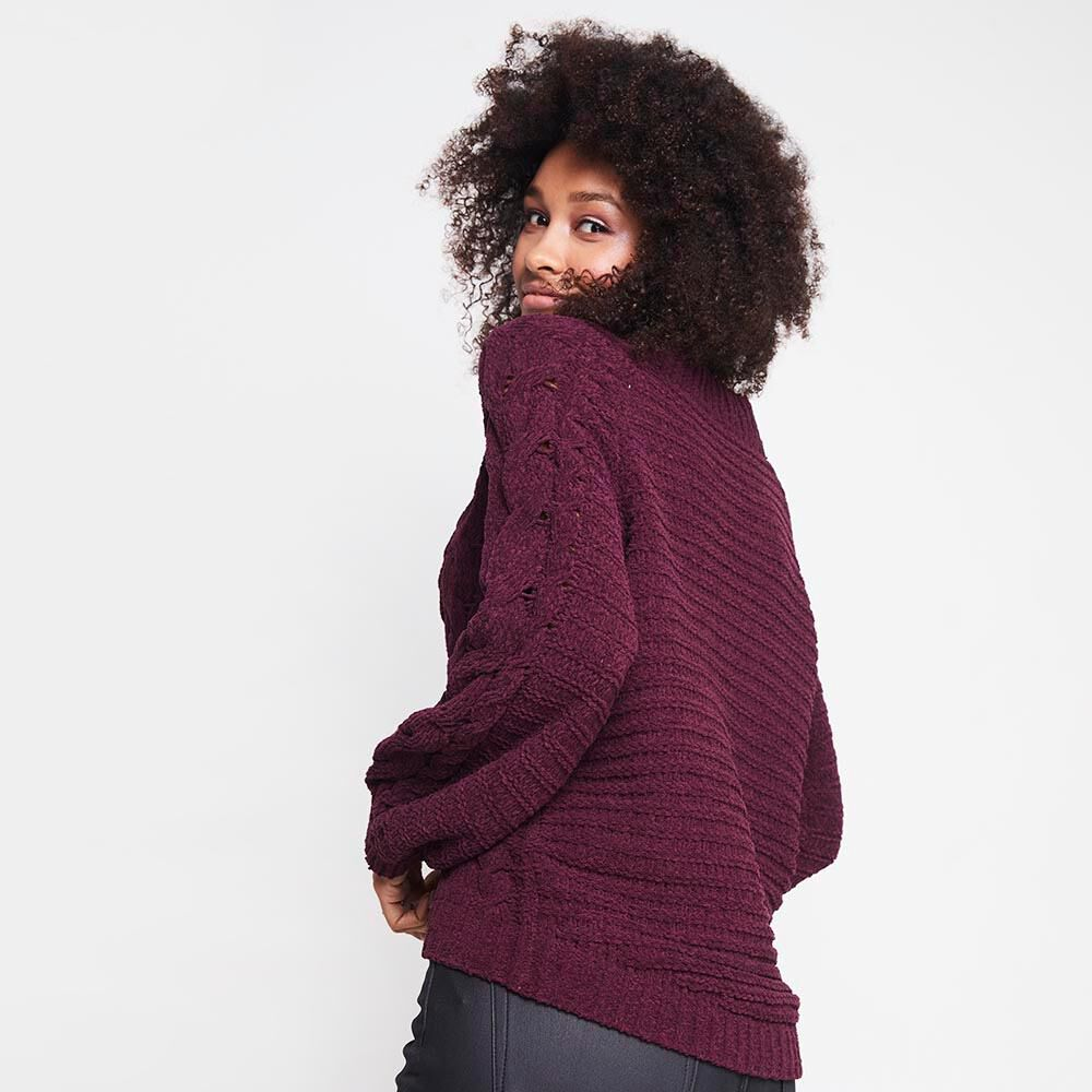Sweater Tejido Trenzado Chenille Mujer Rolly Go image number 2.0