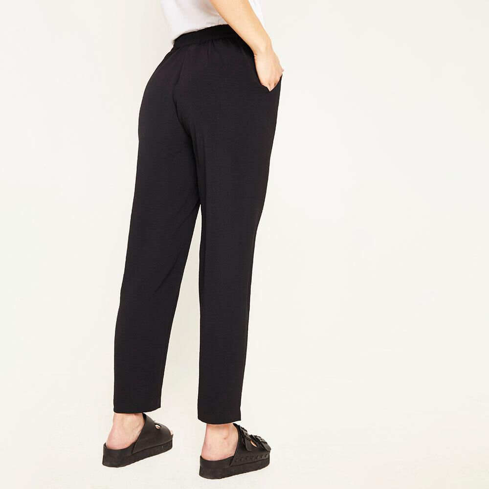 Pantalón Pretina Elasticada Tiro Medio Recto Mujer Kimera image number 2.0
