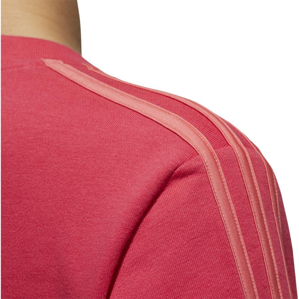 Polerón Deportivo Unisex Adidas Women Essentials 3 Stripe Sweat French Terry image number 7.0