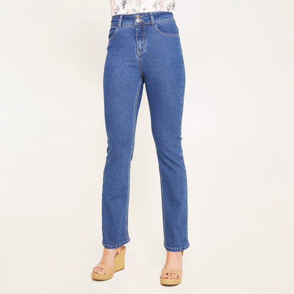 Jeans Mujer Tiro Alto Regular Geeps image number 0.0