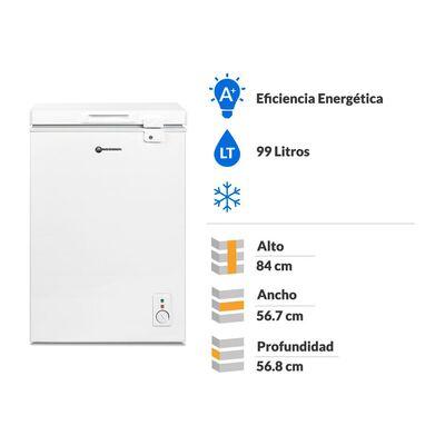 Freezer Mademsa M100 / Frío Directo / 99 Litros