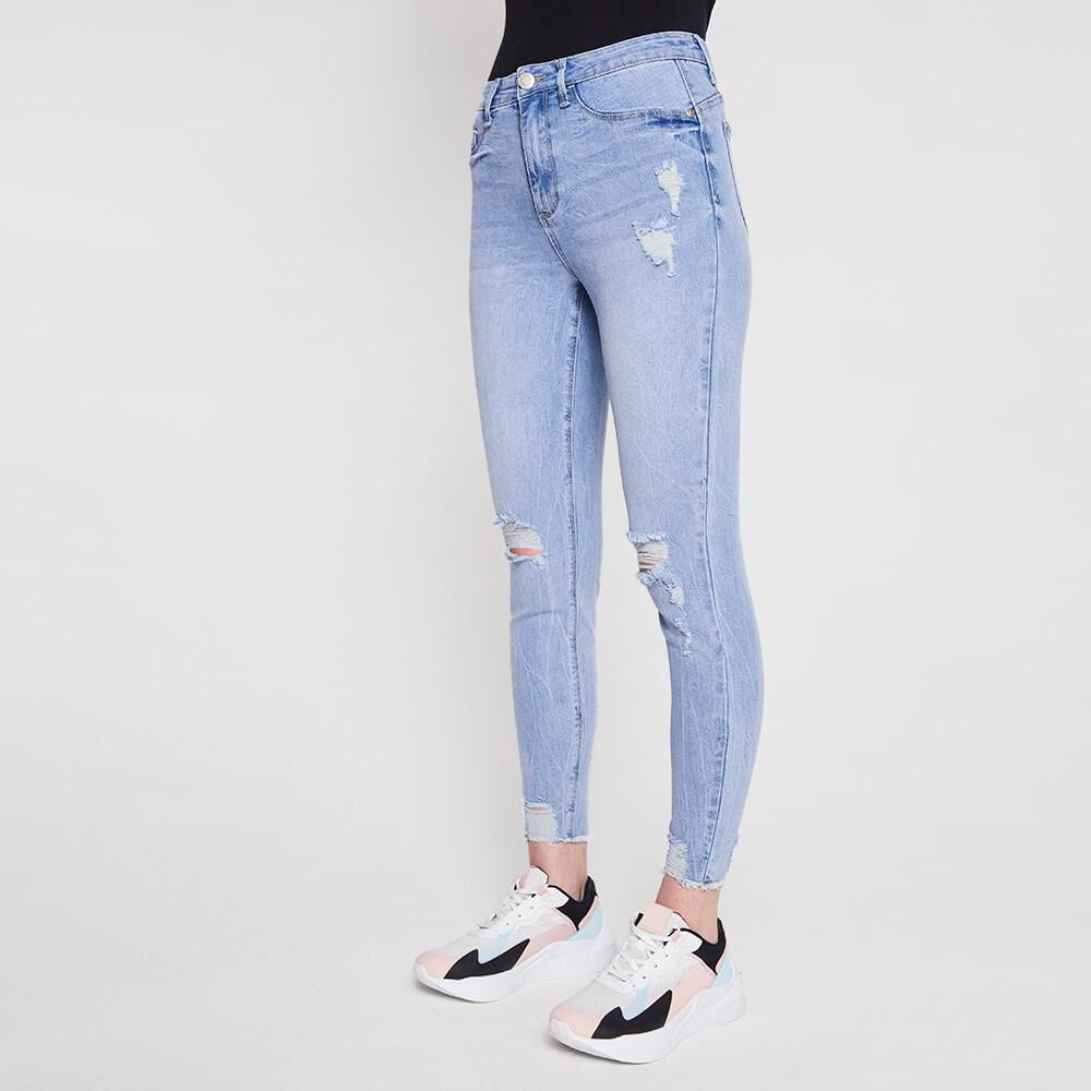 Jeans Mujer Tiro Alto Push Up Super Skinny Freedom image number 0.0