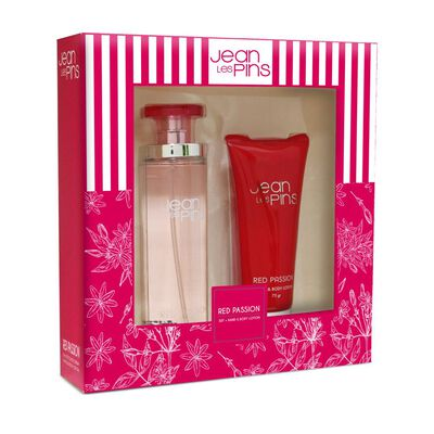 Estuche Fragancia Red Passion 100 Ml + Crema Jean Les Pins