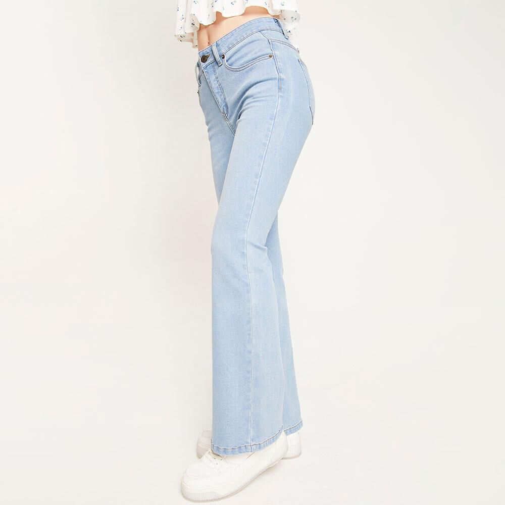 Jeans Tiro Alto Flare Mujer Freedom image number 5.0