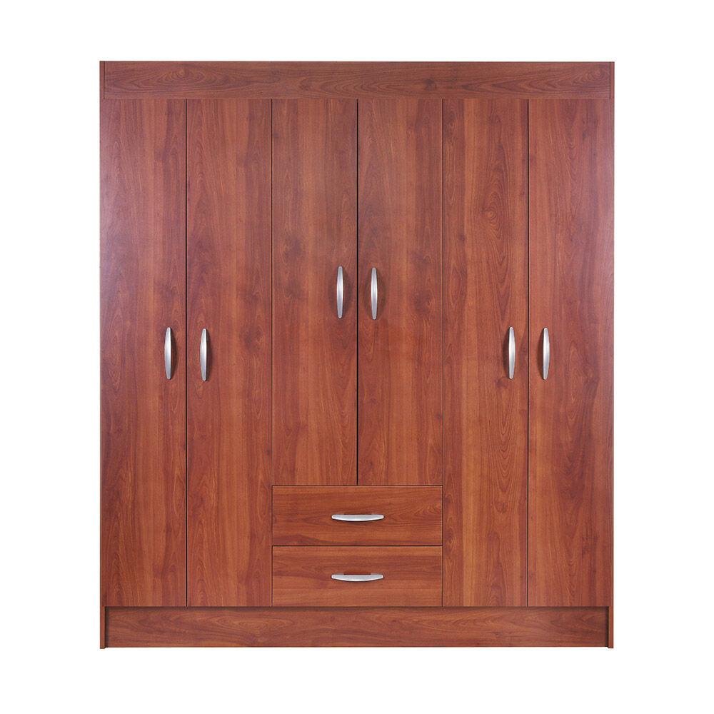 Closet Casa Ideal Trancura / 6 Puertas / 2 Cajones image number 0.0