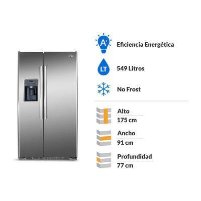 Refrigerador Side By Side GE GRC22LFKFSS / No Frost / 549 Litros