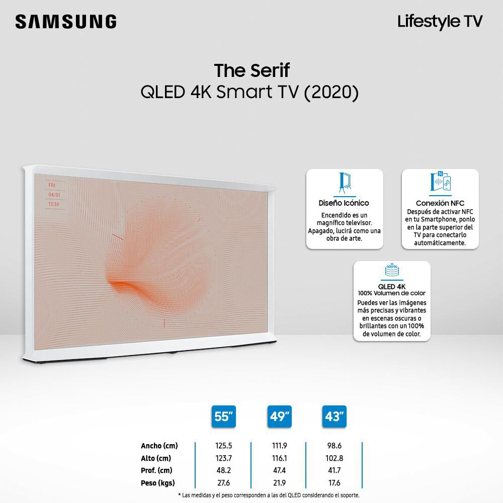 """QLED Samsung The Serif / 43"""" / Ultra HD 4K / Smart Tv image number 2.0"""