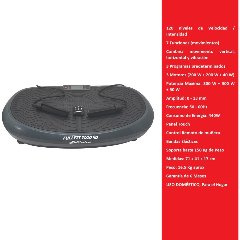 Plataforma Vibratoria Bodytrainer Fullfit 7000 4d image number 1.0