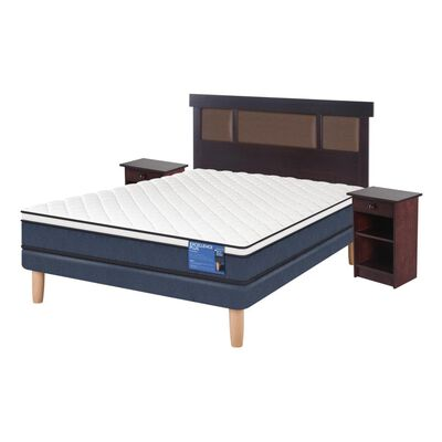 Cama Europea Cic Excellence Plus / 2 Plazas / Base Normal  + Set De Maderas