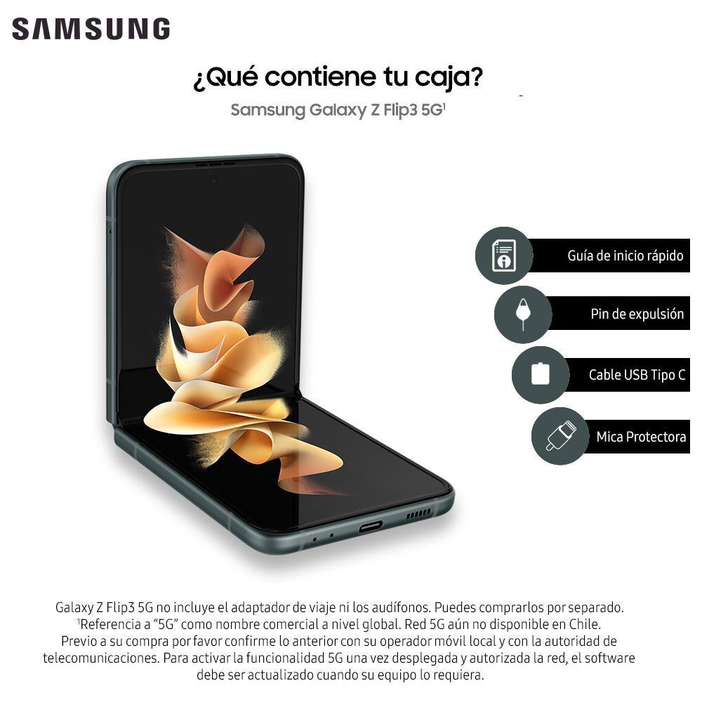 Smartphone Samsung Galaxy Z Flip 3 Verde / 128 Gb / Liberado image number 8.0