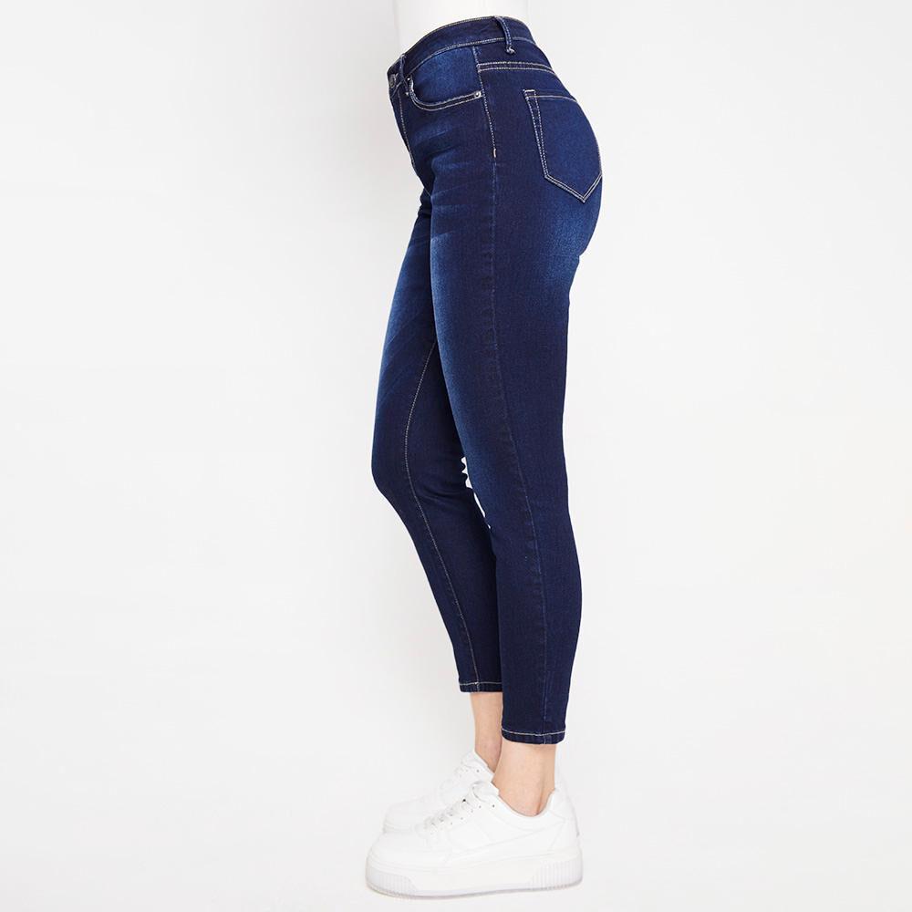 Jeans Básico Tiro Medio Skinny Mujer Kimera image number 5.0