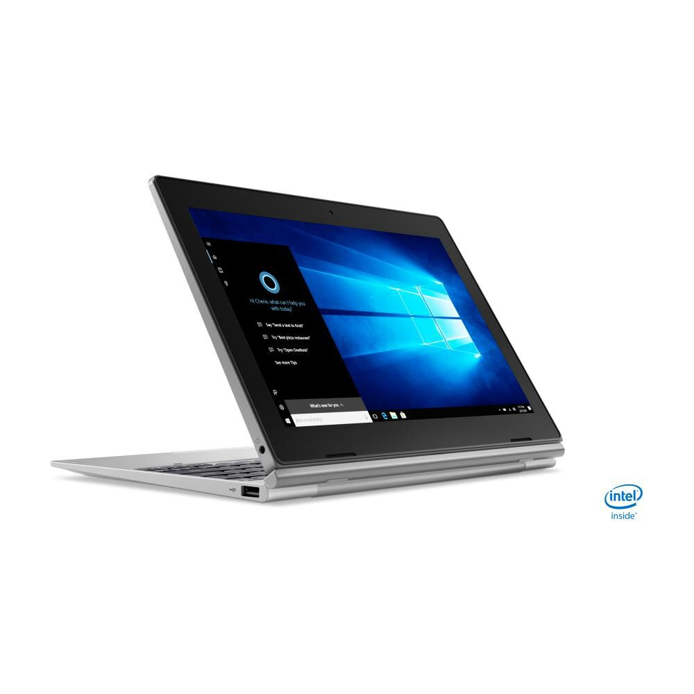 "Notebook Lenovo Ideapad D330 / Mineral Grey / Intel Celeron / 4 Gb Ram / Integrated Intel Uhd Graphics 600 / 64 Gb Ssd / 10.1"" image number 4.0"
