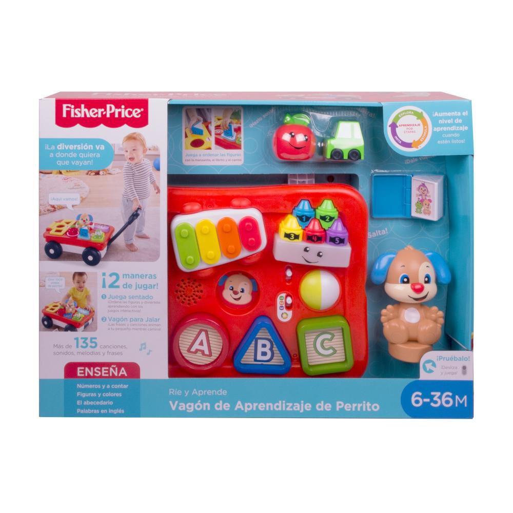 Fisher-price Ríe Y Aprende Juguete Para Bebés Vagón De Aprendizaje De Perrito image number 2.0