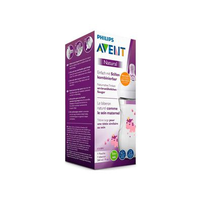 Mamadera Avent Natural 2.0 Unicornio 260 Ml