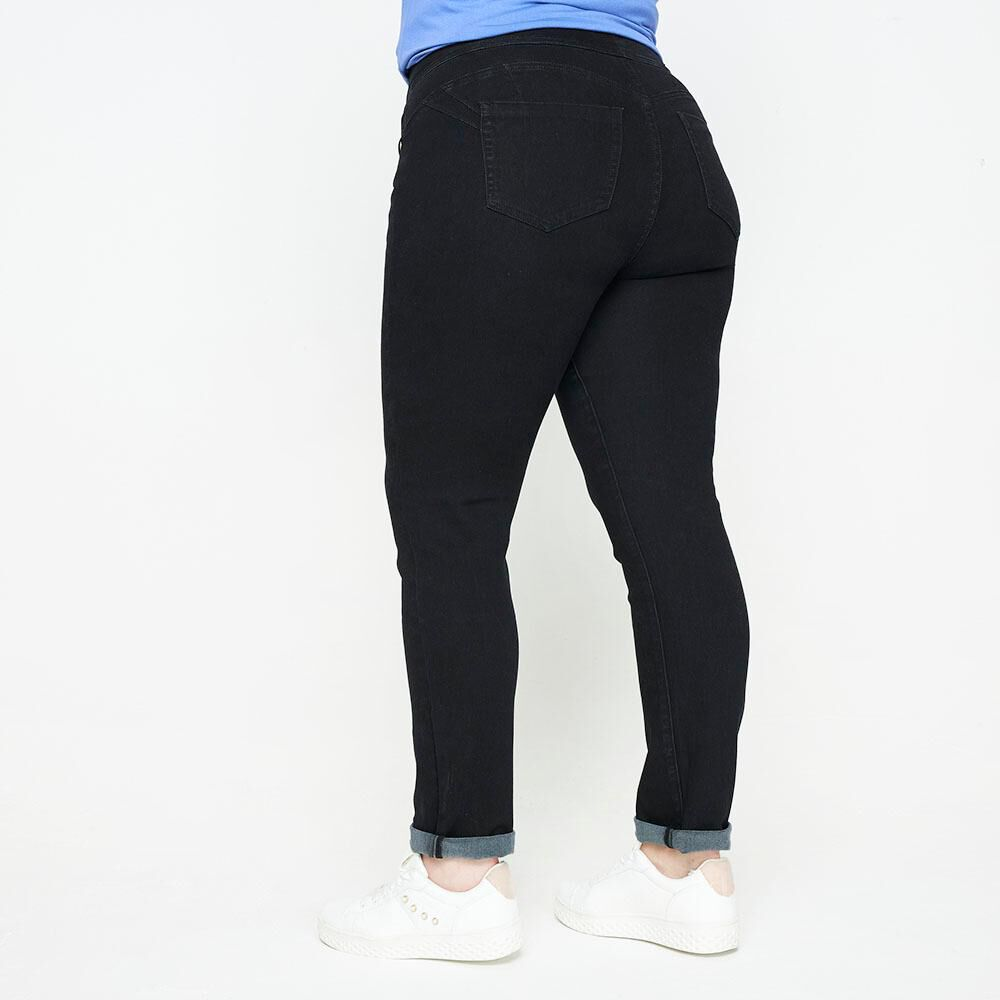 Jeans Tiro Alto Recto Push Up Mujer Sexy Large image number 2.0