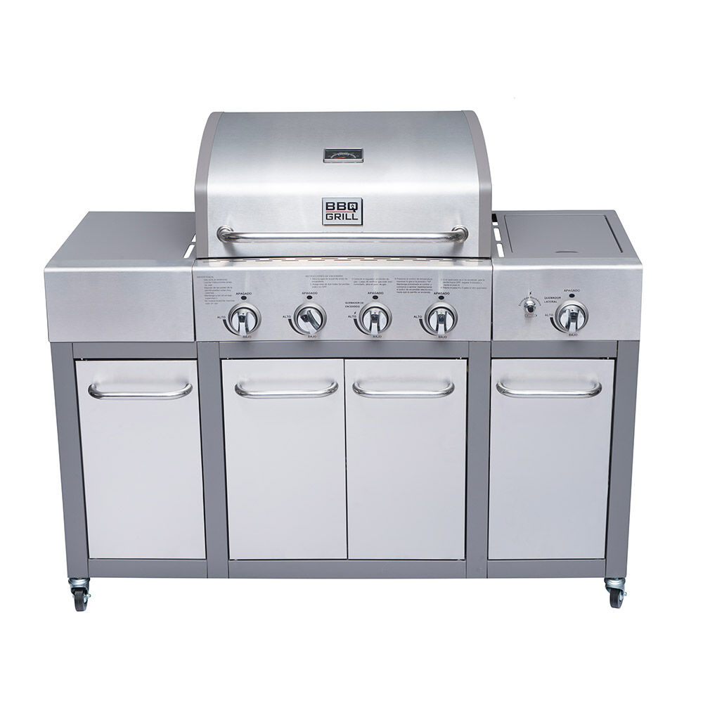 Parrilla A Gas Bbq Gril Bbq401Gcqlm / 4 Quemadores + Lateral image number 0.0