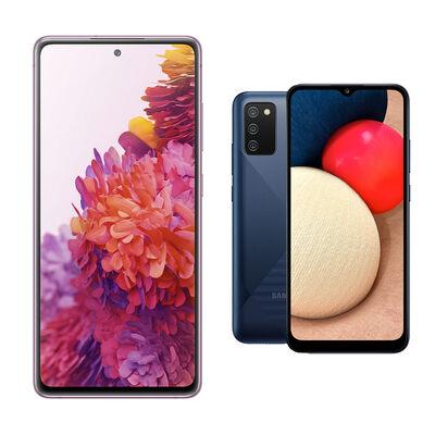 Smartphone Samsung Galaxy S20 Fe Cloud Lavender + Smartphone Samsung A02S Azul