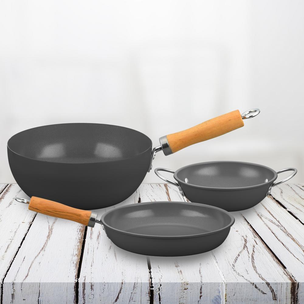 Set Paila+sarten+wok Doral Noruega image number 0.0