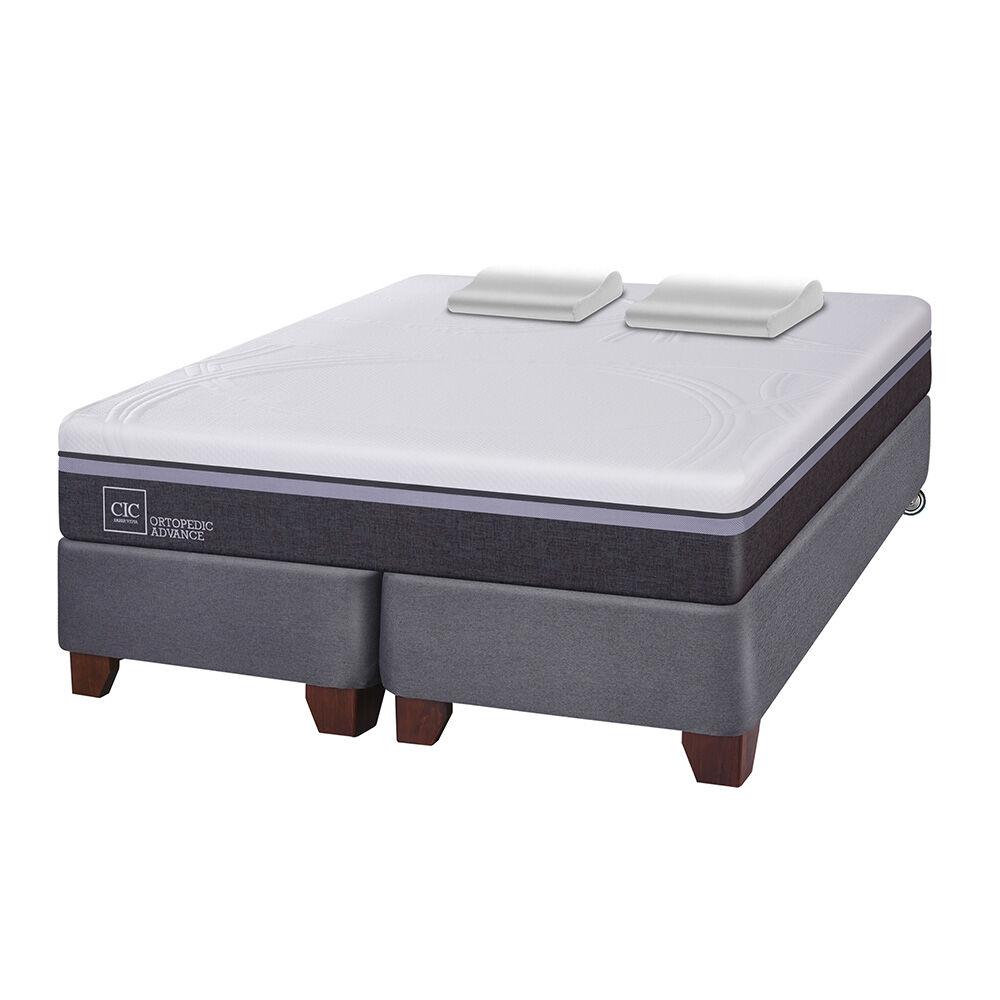 Box Spring Cic Ortopedic Advance / 2 Plazas / Base Dividida + Almohadas Viscoelásticas image number 1.0