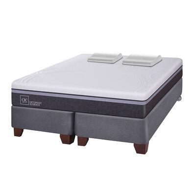 Box Spring Cic Ortopedic Advance / 2 Plazas / Base Dividida + Almohadas Viscoelásticas