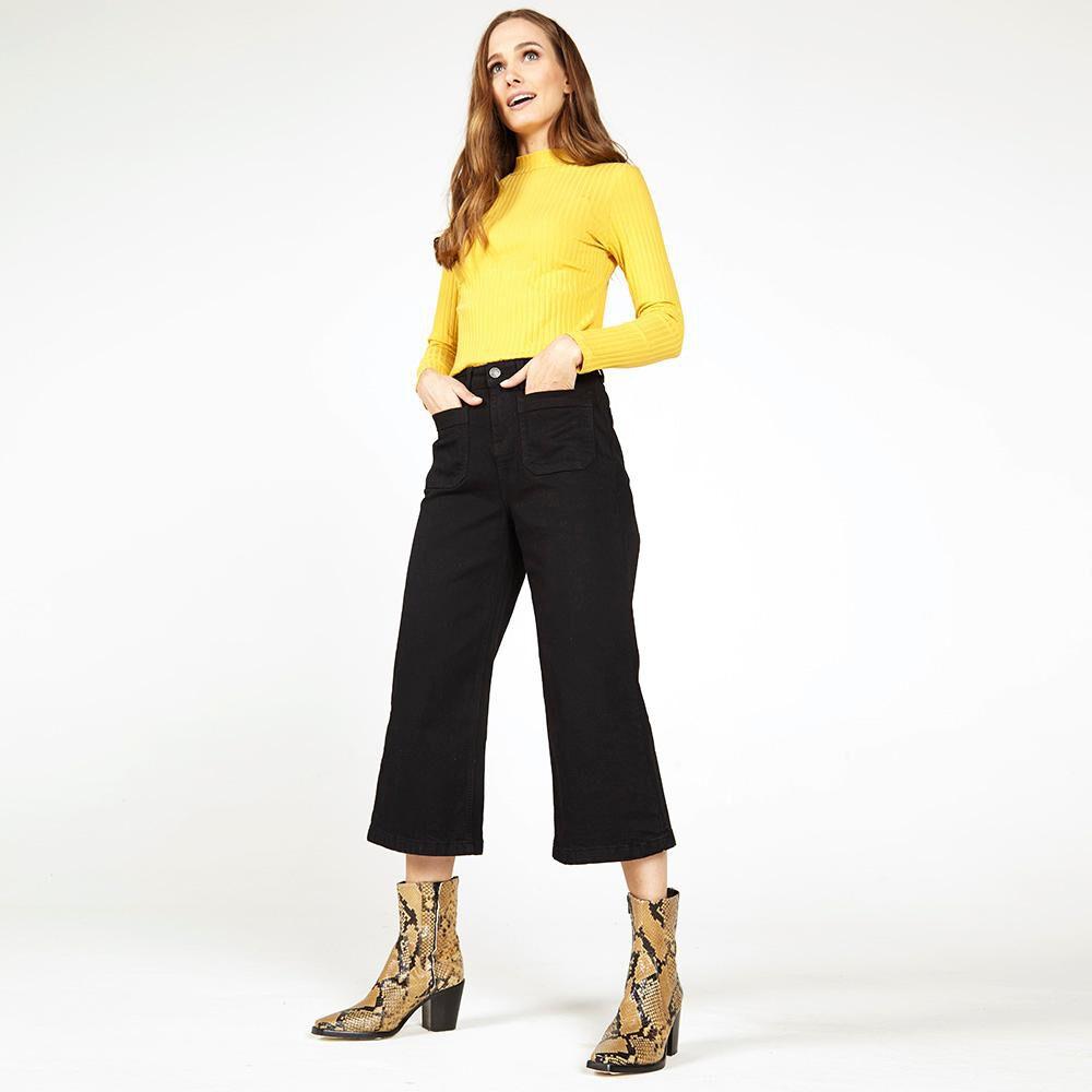 Jeans Mujer Tiro Medio Straight Kimera image number 1.0
