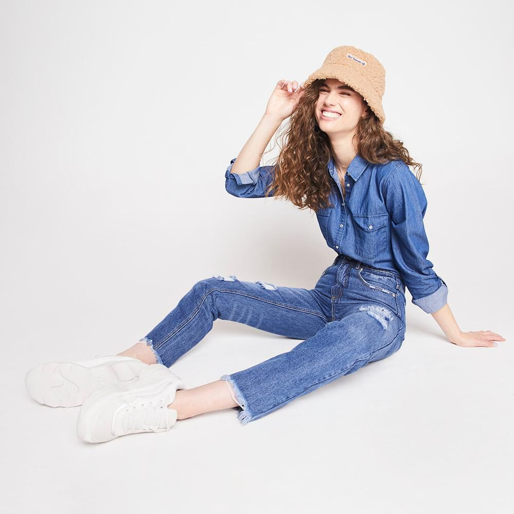 Jeans Mujer Tiro Alto Mom Freedom image number 1.0