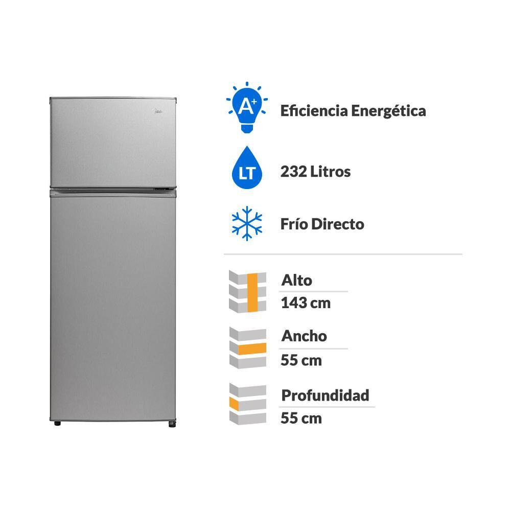 Refrigerador Midea Mrfs-2100S273Fn / Frío Directo / 207 Litros image number 1.0