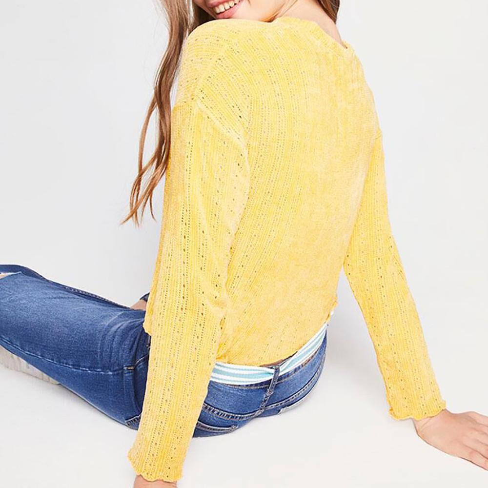 Sweater Tejido Corto Mujer Freedom image number 2.0