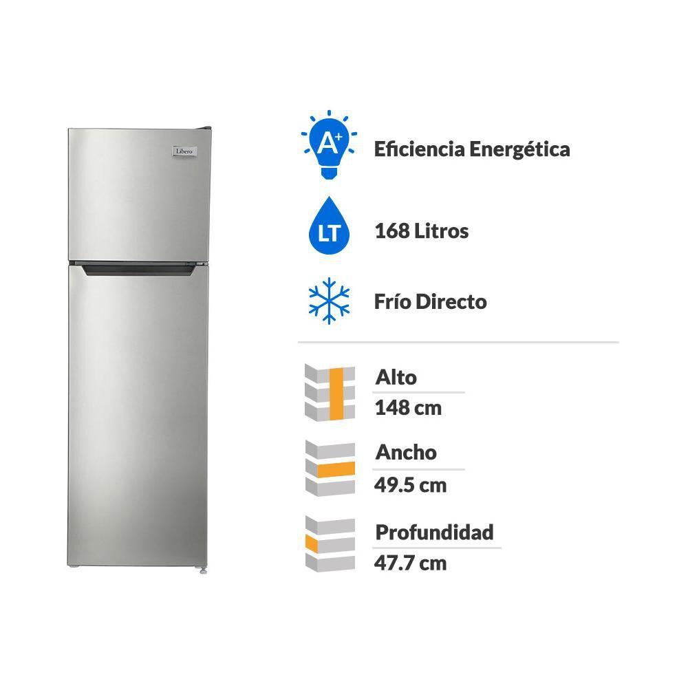 Refrigerador Top Freezer Libero LRT-200DFI / Frío Directo / 168 Litros image number 1.0