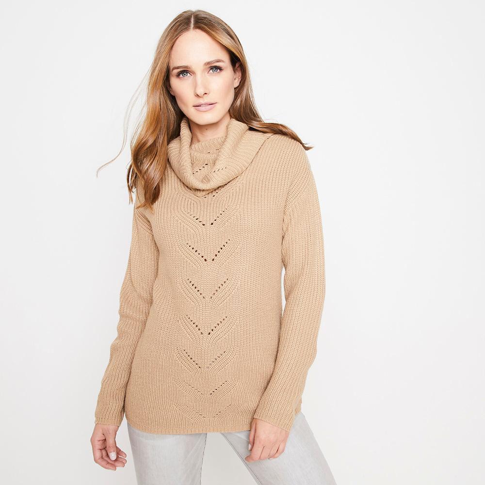 Sweater Tejido Largo Cuello Alto Mujer Kimera image number 0.0
