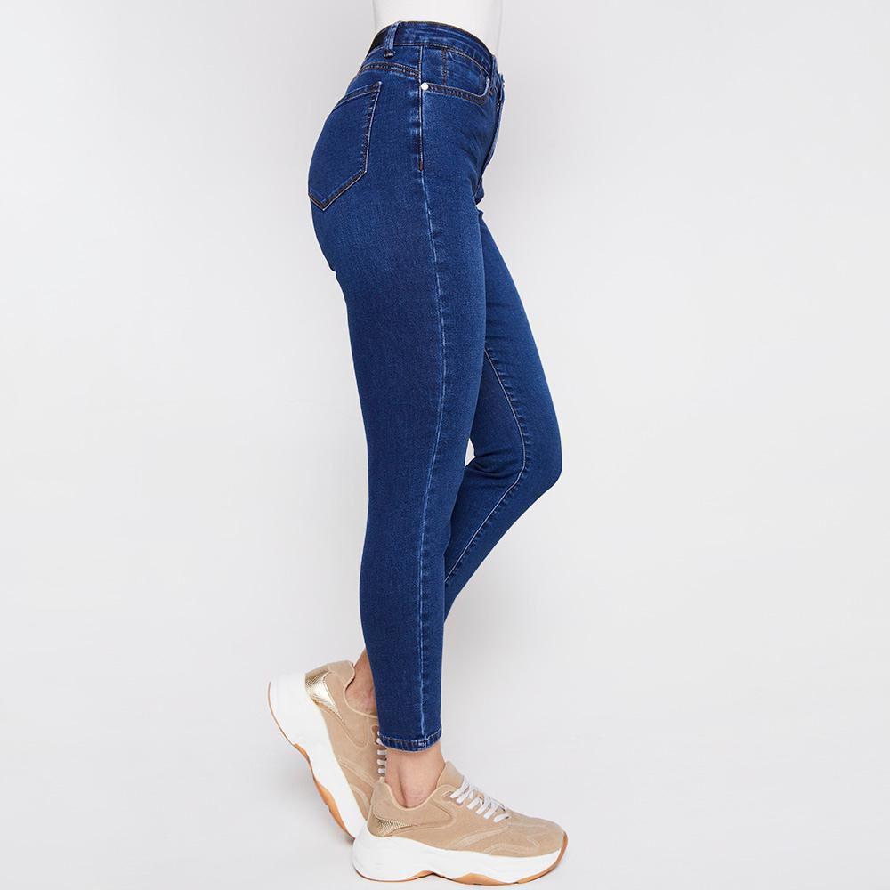 Jeans Tiro Medio Skinny Push Up Mujer Kimera image number 5.0