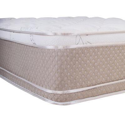Cama Europea Celta Cotton Organic / 2 Plazas / Base Dividida  + Set De Maderas