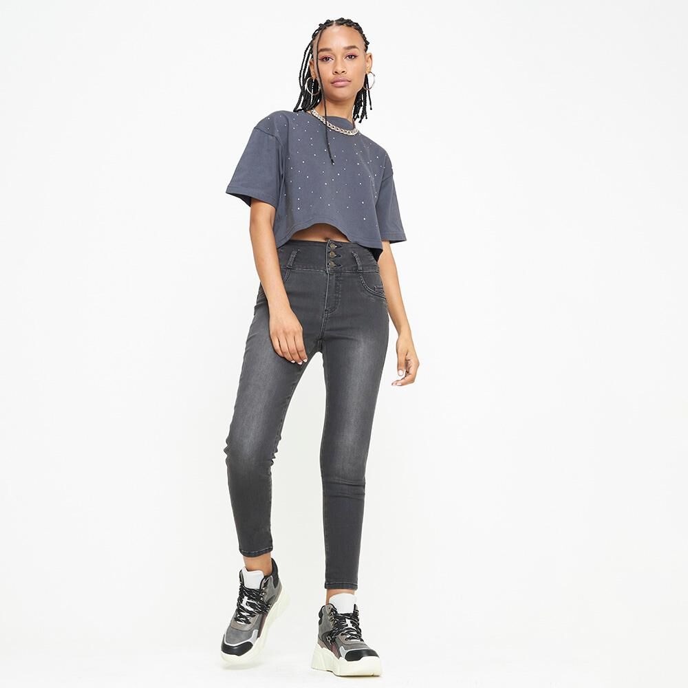 Jeans Mujer Tiro Alto Skinny escultural Rolly go image number 1.0