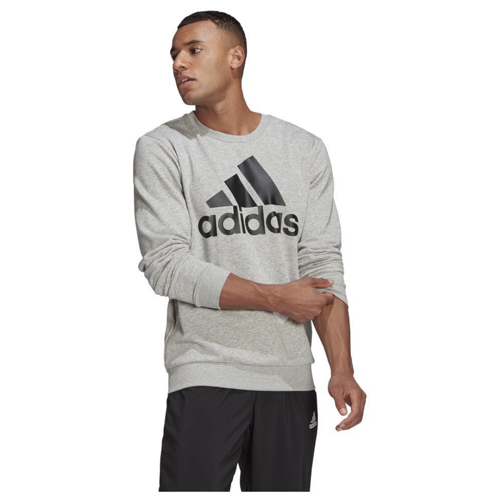 Polerón Deportivo Hombre Adidas Essentials Sweatshirt image number 3.0