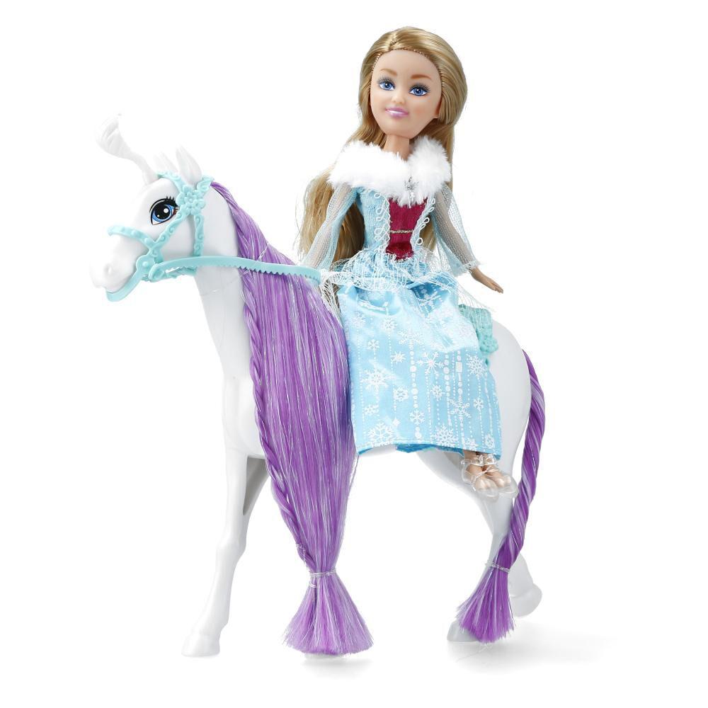 Caballo De Muñeca Hitoys Winter Princess Whit Horse image number 1.0