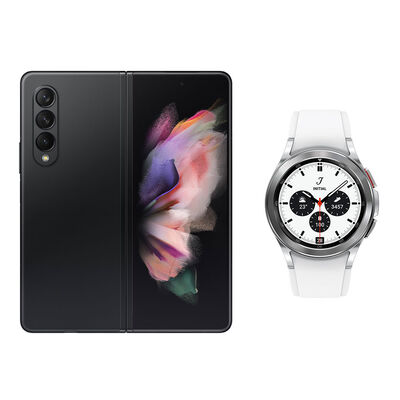 Smartphone Samsung Galaxy Z Fold 3 256 GB Negro + Smartwatch Galaxy Watch4 Classic 42 mm
