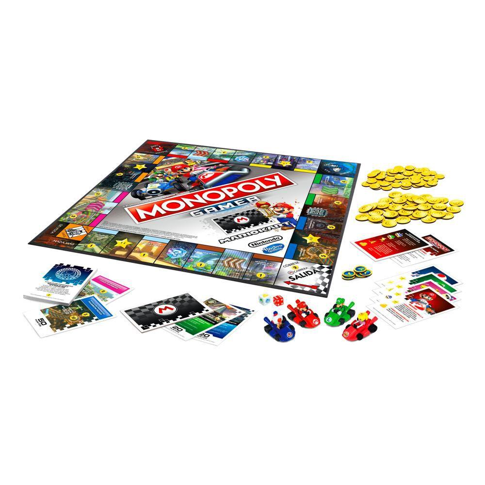Juegos Familiares Monopoly Gamer Mario Kart image number 3.0