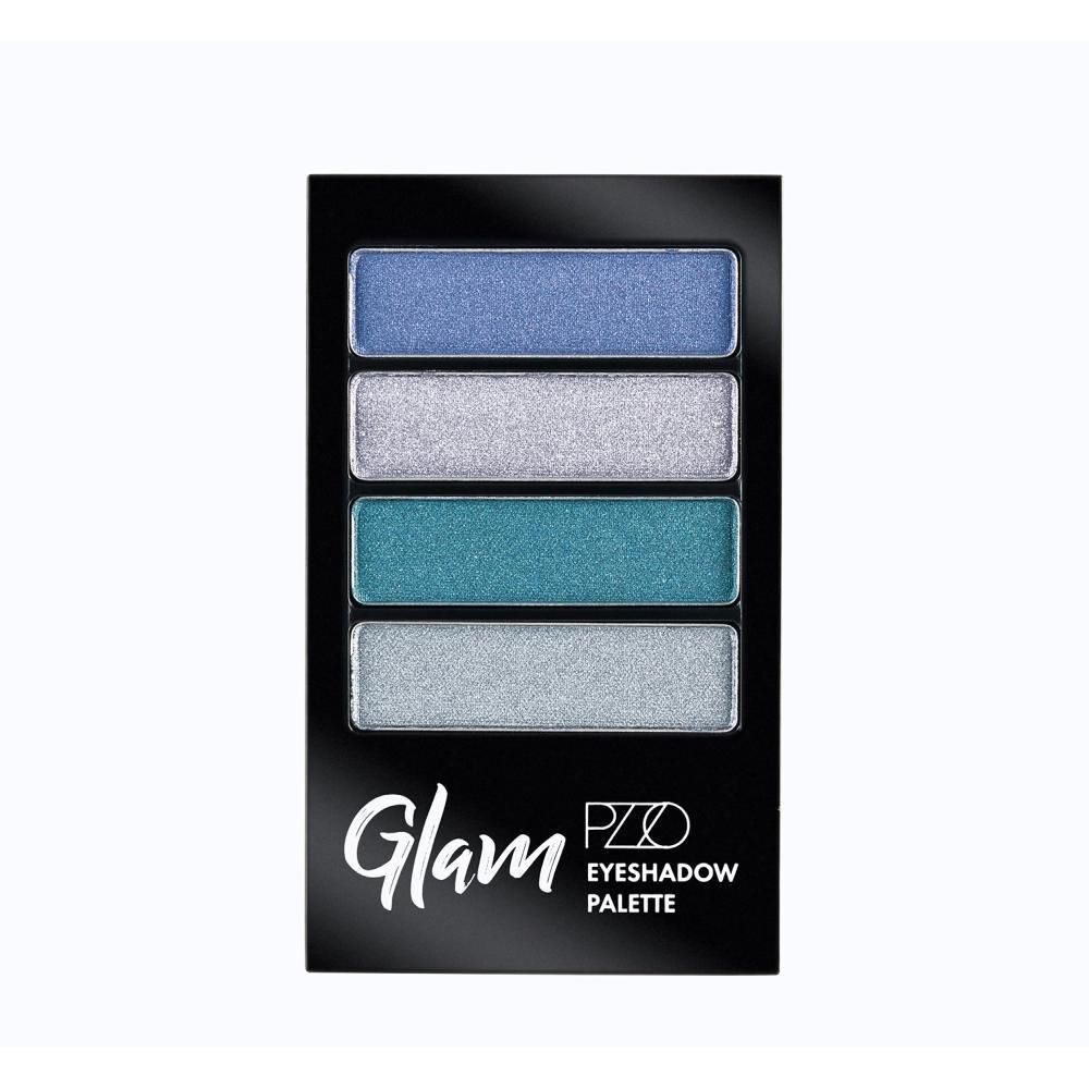 Sombras De Ojo Color Natural Petrizzio Glam Eyeshadow Palette  / Blue Sky