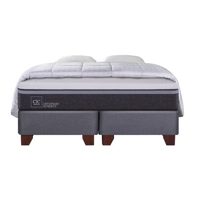 Box Spring Cic Ortopedic Advance / King / Base Dividida + Textil