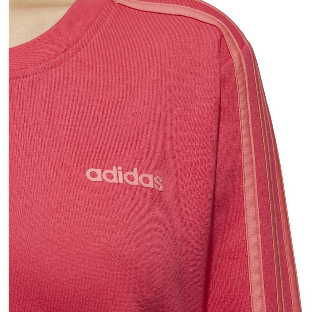 Polerón Deportivo Unisex Adidas Women Essentials 3 Stripe Sweat French Terry image number 6.0