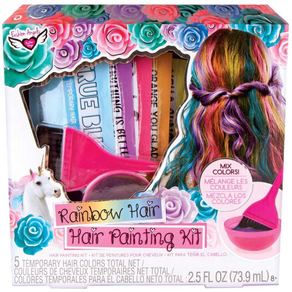 Set De Belleza Fashions Angels Rainbow Hair Painting Kit image number 0.0