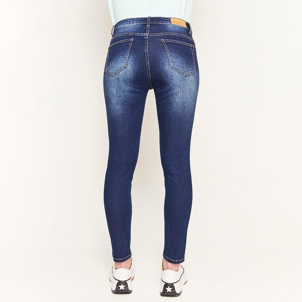 Jeans Rotura Tiro Medio Super Skinny Mujer Freedom image number 2.0