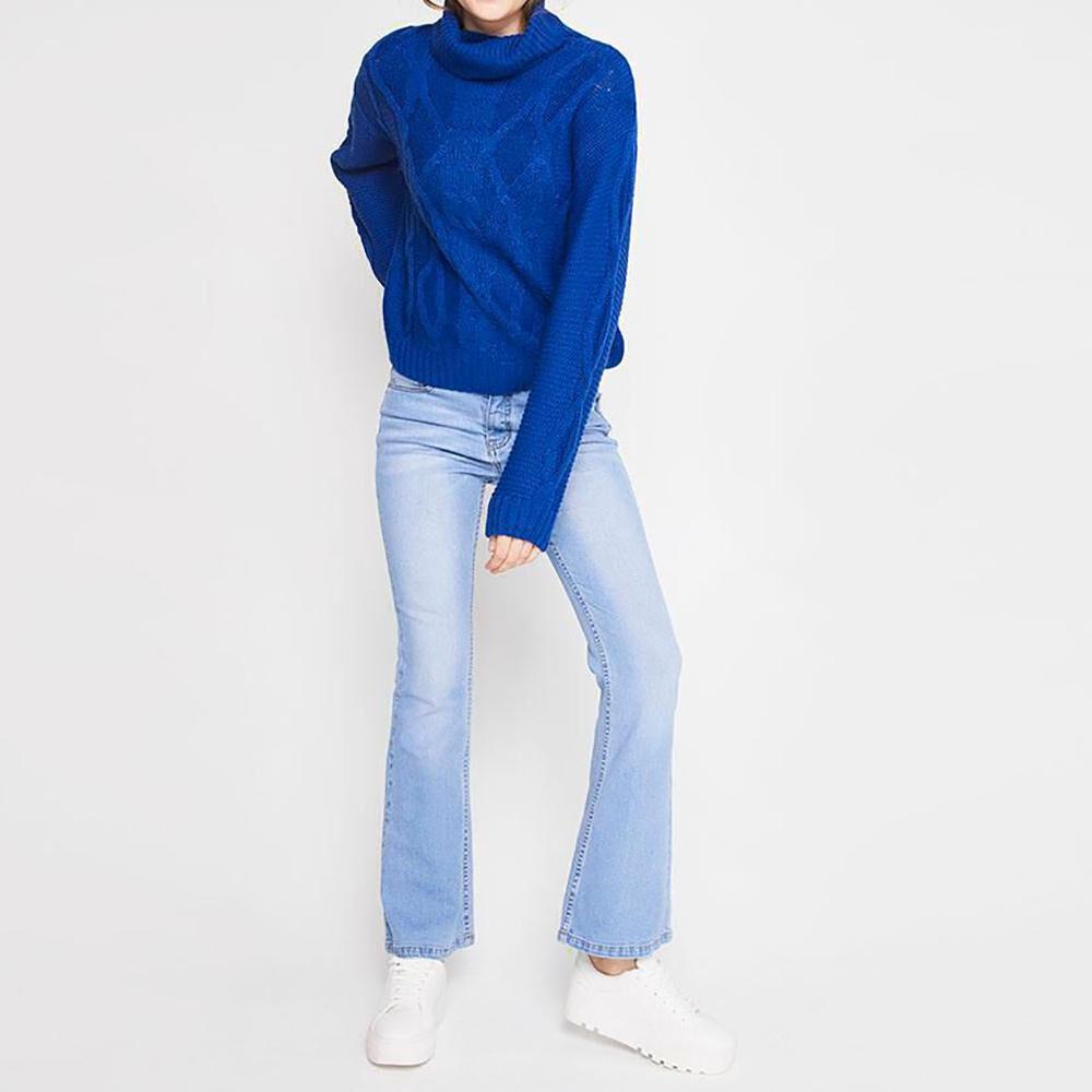 Sweater Trenzado Cuello Alto Mujer Freedom image number 1.0