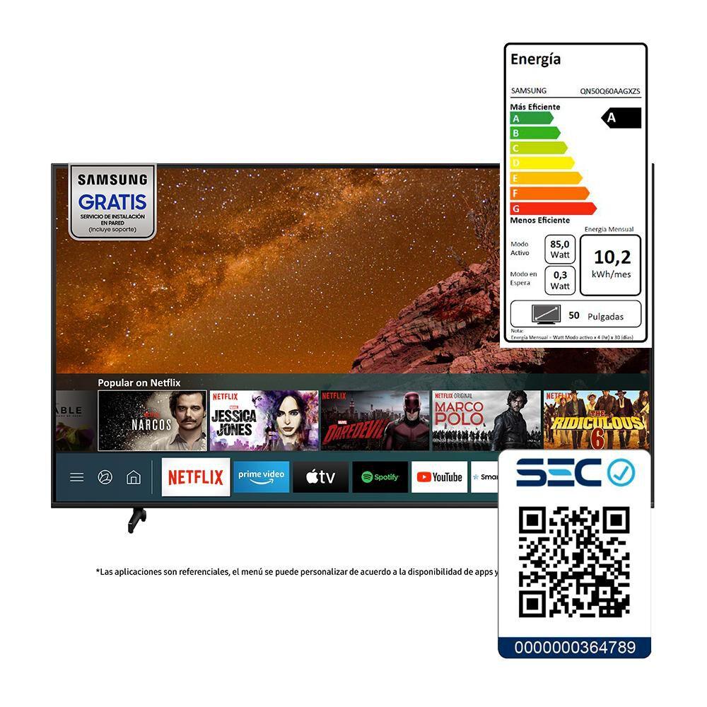 """Qled Samsung QN50Q60 / 50"""" / Ultra Hd / 4k / Smart Tv image number 10.0"""