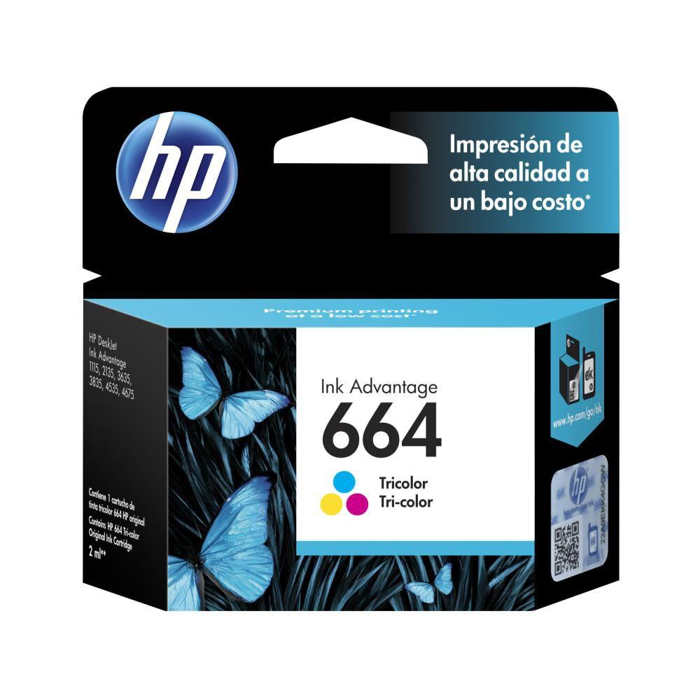 Tinta Hp 664 Tri-color Ink Cartridge image number 4.0
